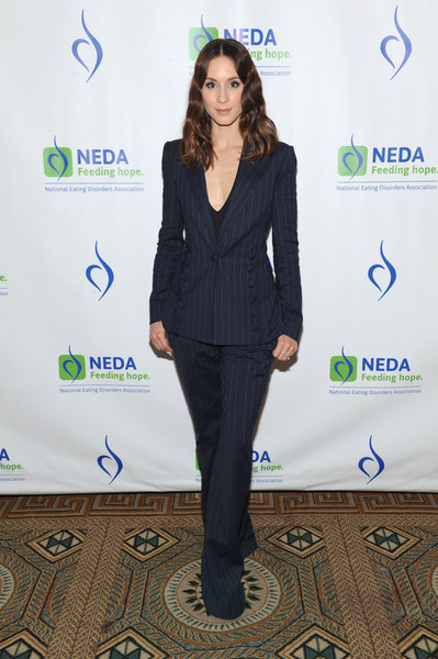 Troian Bellisario Pantsuit [clothing,suit,pantsuit,electric blue,carpet,formal wear,outerwear,white-collar worker,event,long hair,troian bellisario,an evening unmasking eating disorders,the pierre hotel,new york city,the national eating disorder association,national eating disorder association hosts 15th annual benefit gala,annual benefit gala]