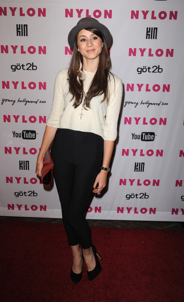 Troian Bellisario Crop Top
