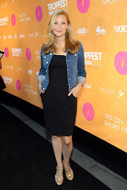 Jennifer Westfeldt's nude T-strap sandals at the 2012 Tropfest New York had a chic vintage feel.