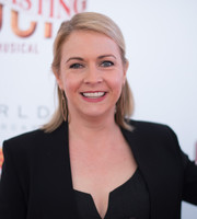Melissa Joan Hart opted for a simple half-up hairstyle when she attended the Broadway opening of 'Tuck Everlasting.'