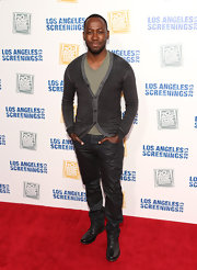 Lamorne stuck to classic jeans for his look at the Twentieth Century Fox LA screenings.