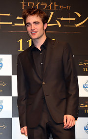 Robert Pattinson looked dapper in a classic black blazer.