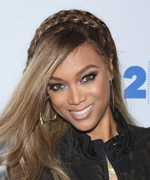 More Pics of Tyra Banks Long Partially Braided (3 of 16) - Tyra Banks Lookbook - StyleBistro