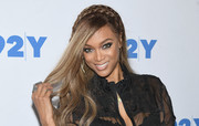 Tyra Banks channeled her inner fairytale princess with this partially braided hairstyle while promoting her book.