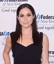 Meghan Markle sported flat-ironed hair at the UJA-Federation of New York's Entertainment Division Signature Gala.