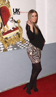 Carmen Electra donned black suede platform pumps at the UK Style by French Collection launch.