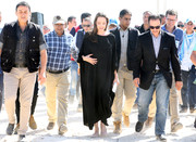 Angelina Jolie visited a Syrian refugee camp wearing a simple black caftan.