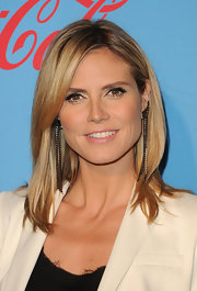 Heidi Klum wore her hair in glossy long layers while attending the UNICEF Playlist With the A-List event in LA.