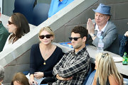 Ashley Olsen chooses brown wayfarers for this tennis game.