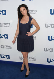 Vanessa Ferlito chose this navy frock for a classic and chic look.