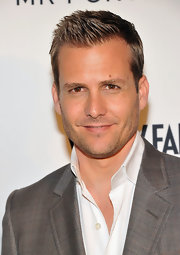 Gabriel Macht's hair stylist did such a great job--his hair almost looks sculpted!