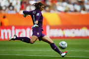 Hope Solo puts her Nike cleats to good use!
