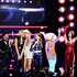 "Singer Kristian Bush, recording artist Keri Hilson, singer Grace Potter, singer Jennifer Nettles, comedian Kathy Griffin, singer Nicki Minaj, and singer Katy Perry perform onstage during ""VH1 Divas Salute the Troops"" presented by the USO at the MCAS Miramar on December 3, 2010 in Miramar, California. ""VH1 Divas Salute the Troops"" concert event will be televised on Sunday, December 5 at 9:00 PM ET/PT on VH1."