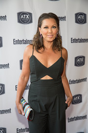 Vanessa Williams styled her plain black outfit with a colorful beaded clutch for the 'Ugly Betty' reunion.