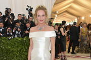 Uma Thurman Off-the-Shoulder Dress