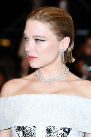 Lea Seydoux attended the Cannes Film Festival screening of 'Under the Silver Lake' wearing a slick short 'do.