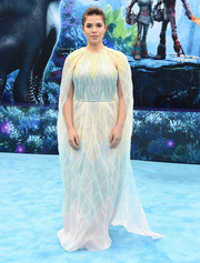 America Ferrera looked divine in a caped pastel gown by J. Mendel at the premiere of 'How to Train Your Dragon: The Hidden World.'