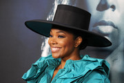 Gabrielle Union arrived for the special screening of 'Breaking In' wearing a black wide-brimmed hat by Marc Jacobs.