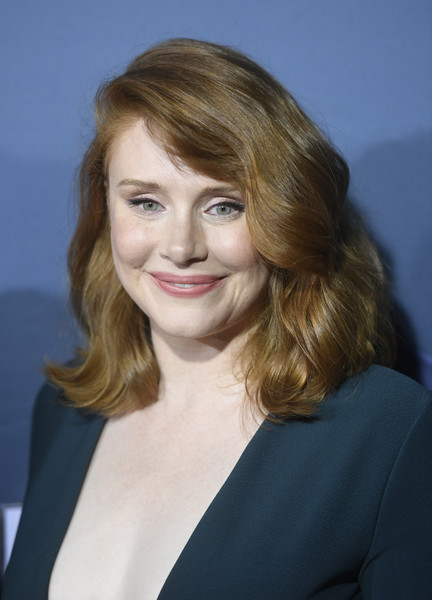 Bryce Dallas Howard looked gorgeous with her voluminous waves at the Jurassic World: The Ride grand opening.