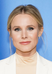 Kristen Bell wore her hair in a slightly loose updo at the FYC event for 'The Good Place.'