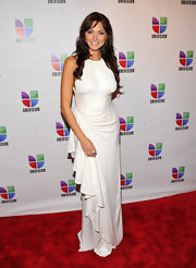 The cascading ruffle on Bianca Soto's dress was definitely an eye grabber.