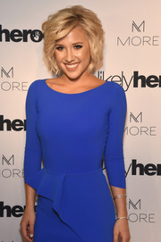 Savannah Chrisley added subtle sparkle to her look with a trio of silver bangles at the Night of Freedom, A Tribute to the Legend George Michael.