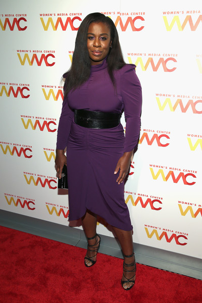Uzo Aduba Lace-Up Heels