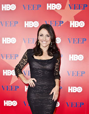 Julia Louis-Dreyfus hit the premiere of 'Veep' with her nails painted a gorgeous rich oxblood shade.