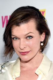 Milla Jovovich attended the 'Barely Famous' season 2 party wearing her hair in a simple yet stylish bob.