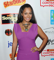 La La Anthony added a fancy touch to her look with a tribal statement necklace when she attended the VH1 Songwriter Music Series.