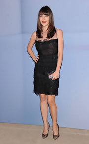 Tamara Mellon looked effortlessly chic in a tiered LBD paired with ultra chic stilettos.