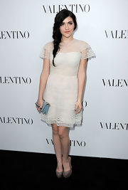 Isabelle Fuhrman looked ultra-sweet at the Valentino store opening in this lacy number.