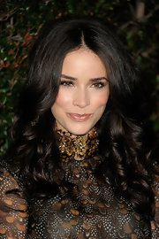 Abigail Spencer wore her long hair in bouncy curls for the opening of the Valentino flagship store on Rodeo Drive.