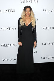 Ciara looked divine at the Valentino store opening wearing this dramatic black gown.
