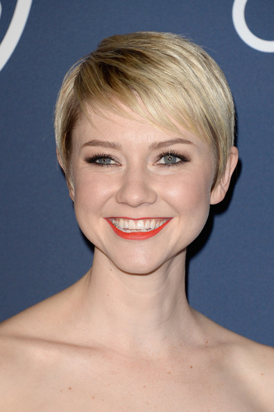 Valorie Curry Pixie [hair,face,hairstyle,chin,blond,lip,eyebrow,skin,head,beauty,valorie curry,post-party - arrivals,beverly hills,california,instyle,warner bros. 71st annual golden globe awards,warner bros. 71st annual golden globe awards post-party]