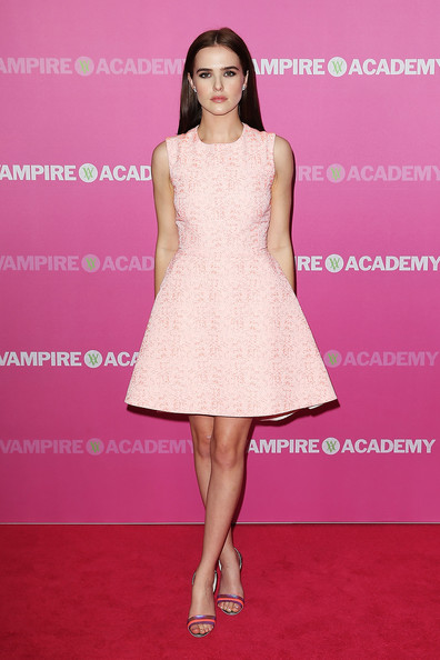 More Pics of Zoey Deutch Evening Sandals (1 of 12) - Heels Lookbook - StyleBistro [vampire academy,fashion model,dress,clothing,cocktail dress,pink,fashion,hairstyle,shoulder,premiere,a-line,zoey deutch,sydney,australia,george street,event cinemas,vampire academy premiere,premiere]