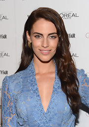 Jessica Lowndes kept her hair simple with beachy waves while attending the Vanity Fair Campaign Hollywood event.