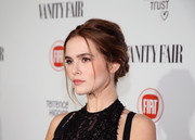 Zoey Deutch's hairstyle at the Fiat Young Hollywood celebration was a little messy but very romantic nonetheless.