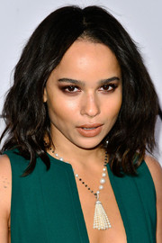 Zoe Kravitz attended the Vanity Fair Campaign Hollwyood kickoff wearing her hair in sexy, tousled waves.