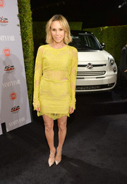 Keltie Knight chose a long-sleeve yellow lace dress for the Young Hollywood celebration.