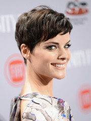 Jaimie Alexander looked darling with her new pixie during the Young Hollywood celebration.