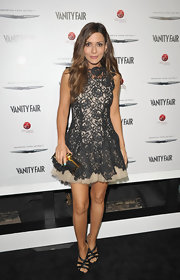 Marisol Nichols looked darling in this luxe lace dress for the Eva Longoria Foundation celebration.