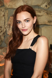 Madeline Brewer wore her long waves swept to the side at the launch of Proenza Schouler's Arizona fragrance.