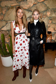 Martha Hunt looked breezy in a poppy-print cutout dress by Proenza Schouler at the launch of the brand's Arizona fragrance.