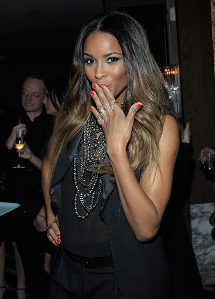 More Pics of Ciara Red Nail Polish (1 of 21) - Red Nail Polish Lookbook - StyleBistro