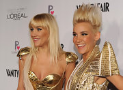 Mim Nervo topped off her cutting-edge dress and boots combo with this bold spiked 'do.