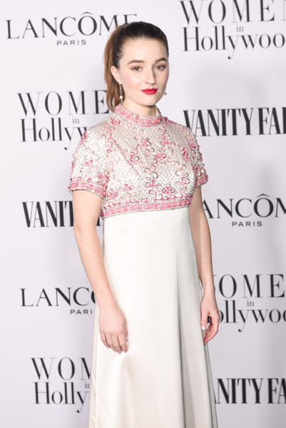 More Pics of Kaitlyn Dever Empire Gown (1 of 2) - Kaitlyn Dever Lookbook - StyleBistro [clothing,dress,fashion model,fashion,beauty,hairstyle,neck,waist,cocktail dress,shoulder,kaitlyn dever,me women in hollywood,lanc\u00e3,west hollywood,california,soho house,vanity fair,lanc\u00f4me women in hollywood celebration,celebration,dove cameron,vanity fair,hollywood,photograph,photo shoot,oscar party,party,getty images,photography]