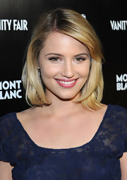 Dianna Agron attended the Montblanc 'Vanity Fair' Party wearing her slightly layered bob with long side-swept bangs.