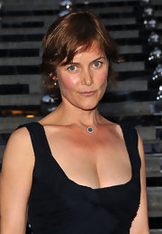 Casey Lowell wore a simple gemstone pendant to the Vanity Fair Party at the Tribeca Film Festival.