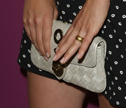 We love Olivia's sparkling gold ring